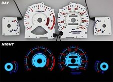 94-95 Honda Accord Night EL Glow Gauges White Face Reverse