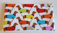Cani bassotto in tessuto Maglioni Fatto a Mano Borsetta dei Trucchi Astuccio Custodia