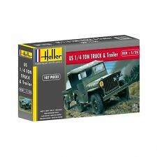HELLER JEEP MODEL KIT  HEL81105 - Heller 1:35 - Jeep Willis & Trailer