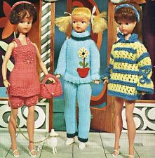 "12"" Teenage  Dolls clothes knitting pattern.  Laminated copy.(V Doll 29)"