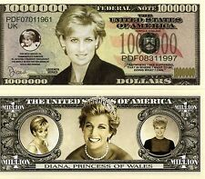 Princess Diana Million Dollar Novelty Money