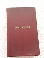 VINTAGE TRAUTWINE CIVIL ENGINEER'S REFERENCE BOOK 1937 EDITION WITH TABS !!!