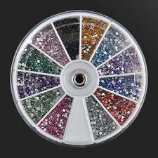 Nail Art Rhinestones 3D Tips 3600pcs 1.5mm Glitter Decoration Diamond Gem Wheel
