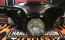 OEM Harley 97-13 Touring Gloss Black Outer Fairing With Head Light Assembly