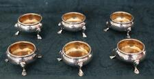 Set of 6 Antique Gilt Lined Sterling Silver Salts - 1869 London - Henry Holland