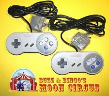 2 NEW SUPER NINTENDO SNES GAMEPAD CONTROLLERS - FREE SHIPPING!