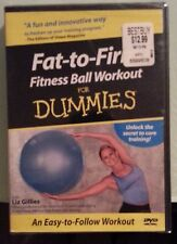 FAT TO FIRM FITNESS BALL WORKOUT FOR DUMMIES     DVD NEW