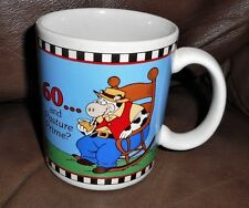 "Pasture Prime Coffee Mug/Cup  Papel FREELANCE Cow in Rocking Chair  4""  euc!"