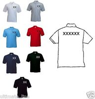 Personalised Custom Printed Polo Shirt Work Uniform Stag Hen New