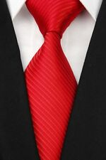 White Green Brown Black Red Blue New Striped Classic Silk Men's Tie Necktie