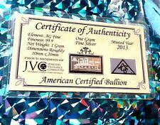 X20 Titanic + COA 999 Silver ACB 1 Gram Limited edition 100th Anniversary Bar