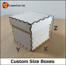 Custom Size Laser Cut MDF Wooden Build Your Craft Box