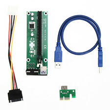 New USB 3.0 PCI-E Express 1x to16x Extender Riser Card Adapter SATA Power Cable