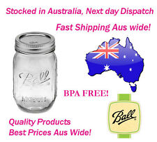 6 x Ball Mason Pint 500ml Jars & Lids BPA Free!, Preserving Candle Weddings