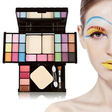 Pro Eyeshadow Face Powder Palette Blush Lip Gloss Makeup Beauty Cosmetic Set Kit