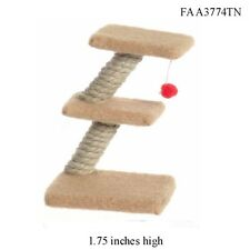 Cat Scratch Post Tower 1:12 Scale FALCON DOLLHOUSE MINIATURES