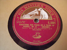 78 RPM RECORDS X 2 VARIATIONS AND FUGUE ON A THEME OF HANDEL, OP 24 ( BRAHMS )