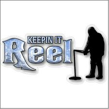Keepin it reel Ice Fishing Car Truck Boat Sled Funny Fish Decal Sticker