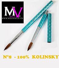 Pincel 100%  Kolinsky Nº 8 Mevinails - Acrilico - porcelana  pinceles - monomero