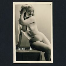 #28 rössler Akt foto 14 x 9 nude woman study * vintage 50s studio real photo pc