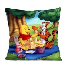 """WINNIE THE POOH Decorative Throw Pillow Case Cushion 18"""" Zippered Cover #2"""