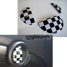 MINI ONE COOPER R50 R52 R53  TÜRGRIFFE/ HANDSCHUHFACH CHECKERED FLAG