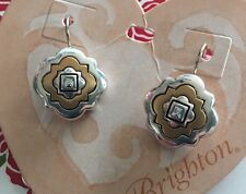 Brighton Silver & Gold OCTAVIA LUSTER french wire lever back Earrings NWT