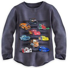 Disney Store Cars Lightning McQueen Cotton Thermal Shirt Tee 5/6 Grey Boys