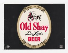 Old Shay De Luxe Beer Label