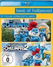 BLU-RAY DIE SCHLÜMPFE 1 + 2 - BEST OF HOLLYWOOD - 2 MOVIE COLLECTOR'S PACK * NEU