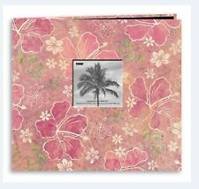 Pioneer Photo Albums ~ Postbound 12x12 HIBUSCUS FRAME  Travel, Floral  ~MB10TRPH