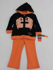 Harley-Davidson Toddler Girls Full Zip Sweatshirt, Sweatpants & Top Size 3T
