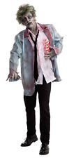 MENS ZOMBIE COSTUME WALKING DEAD BLOODY HORROR FANCY DRESS HALLOWEEN OUTFIT NEW