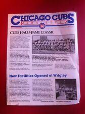 1983 Vol. 7 No.2 Summer CHICAGO CUBS NEWSLETTER EXCELLENT