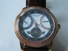 Stuhrling Original Men's Saturnalia Automatic Leather Strap Watch