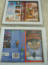 Muppet treasure island & Christmas carol Cover Double Vhs sleeves Framed