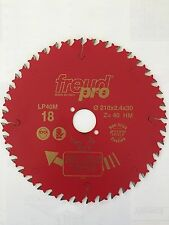 Sega Lama Freud PRO per taglio legno d.210 f.30 Z.40 dente limitatore TEFLONATA