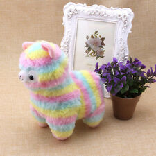 Lovely Rainbow Alpaca Plush Toy Soft Plush Doll Valentine's Day Gift 17cm