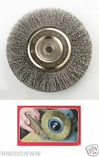 "2pc PROFESSIONAL 6"" STEEL WIRE WHEEL BRUSHES FOR BENCH GRINDER 5/8 1/2 ARBOR"