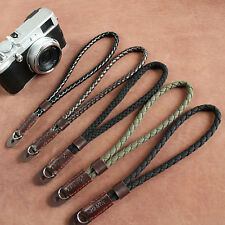 Black Mirrorless Digital Camera Wrist Hand Strap Soft Cotton Linen Weaved Strap