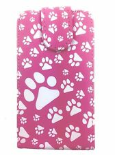 Pink Fashion Animal Footprint Flip case foor Samsung Galaxy Ace s5830 /s5830i UK
