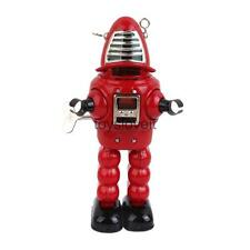 Vintage Wind Up Robot Mechanical Clockwork Model Tin Toys Collectibles Red