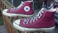 Vintage Converse Made USA Chuck Taylor All☆Star Purple Canvas Hi Tops Size 8-1/2