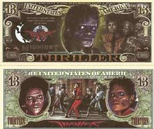 Michael Jackson Thriller 13 Dollar Bills x 2 Close to Midnight Something Evil