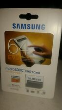 Samsung EVO 64GB  Micro SDXC UHS-1 Card with SD adapter NEW -  free shipping -