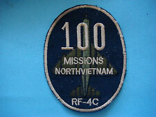 VIETNAM WAR BL PATCH, US AIR FORCE RF- 4C 100 MISSIONS NORTH