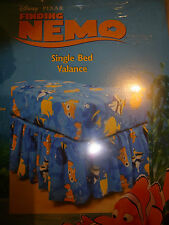 Nemo and Dory single bed ruffled valance blue with fish