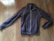Get Him to The Greek Crew 2009 American Apparel Brown Zip Up Knit Jacket Sz S