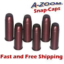 A-Zoom .45 Colt Metal Snap-Caps -Practice/Training/Dummy Rounds -6 Pack 16124