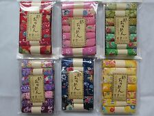 6 Set 42 PC · 7 Assort Pre-Cut Print Crepe Rayon Chirimen Quilt Fabric Patchwork